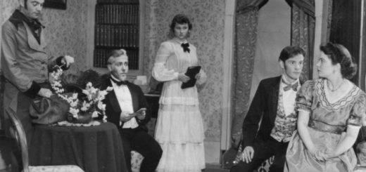 Кирсанов и Базаров, Отцы и дети, черно-белое фото