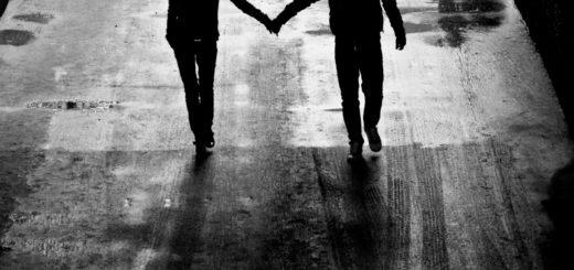 любовь, мужчина и женщина, черно-белое фото