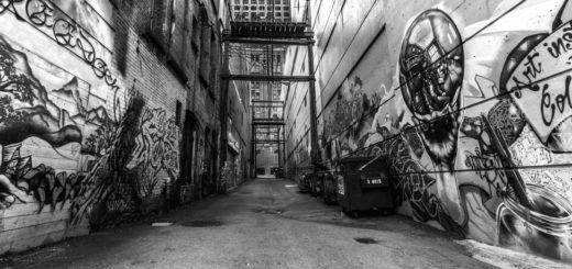 граффити, уличное искусство, черно-белое фото