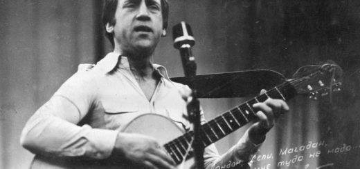 Владимир Высоцкий, поэт-песенник, черно-белое фото