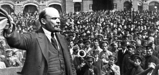 Ленин на выступлении, революция 1917 года