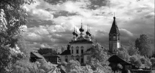 русская природа, русский пейзаж, церковь