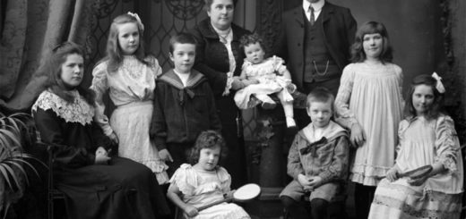 семья 19 века, семейный портрет