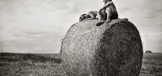 лето в деревне, дети в деревне