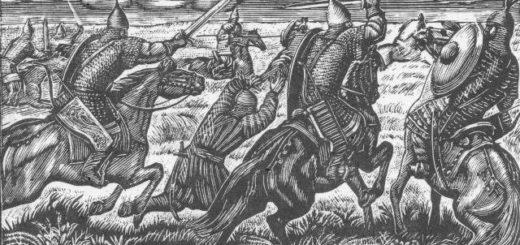 Слово о полку Игореве, битва с половцами