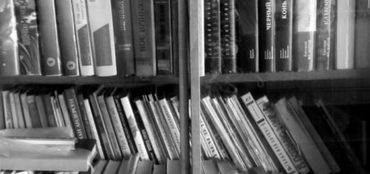 книжная полка, книги в стопках
