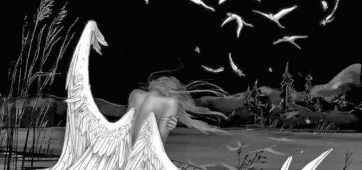Ангел на земле, в ночной мгле