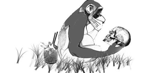 обезьяна гамлет, Шекспир, карикатура
