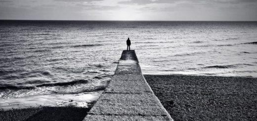 одиночество, путь, человек и море