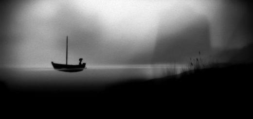 лодка в туманной гавани