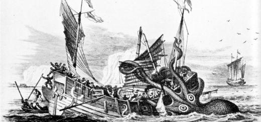 кракен пожирает корабль