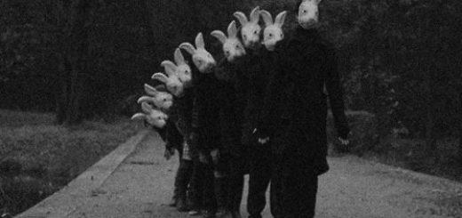 люди в масках кроликов