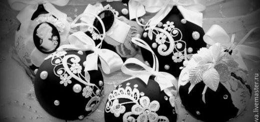 елочные шары ручной работы