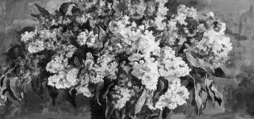 Сирень в корзине, картина Кончаловского