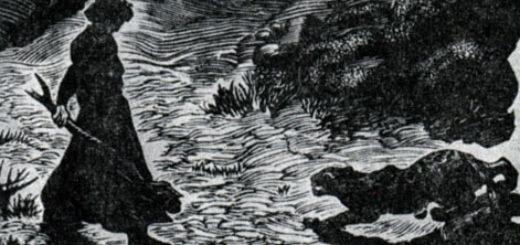 Мцыри и барс, иллюстрация к поэме Лермонтова