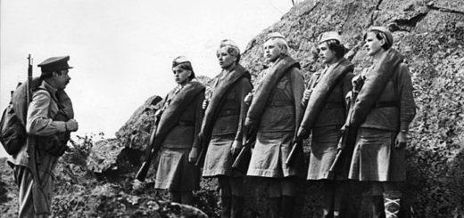 А зори здесь тихие, иллюстрация из советского фильма