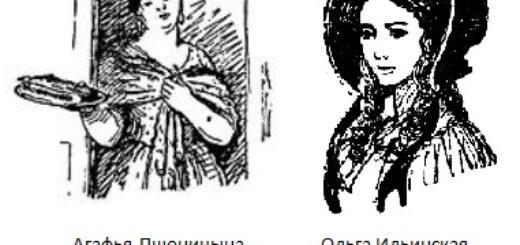 Ольга и Агафья в романе Гончарова Обломов