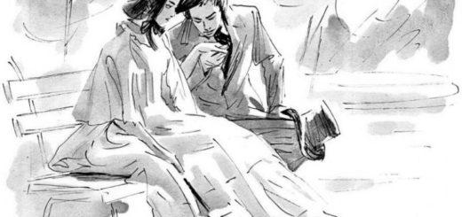 Первая любовь, Иван Тургенев, иллюстрация к повести, где Зинаида и Володя