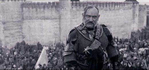 Тарас Бульба при параде, герой повести Гоголя