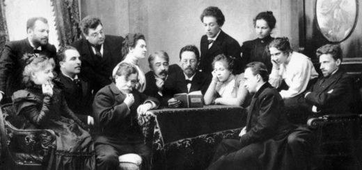 Чехов читает пьесу Вишневый сад