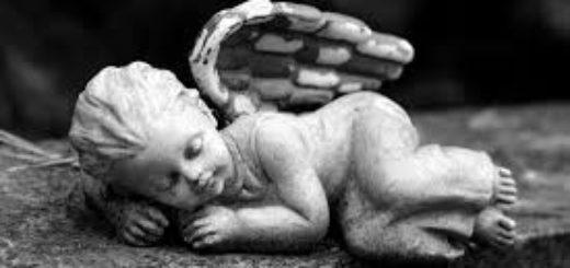 ангелок спит, сон ангела, скульптура, детство