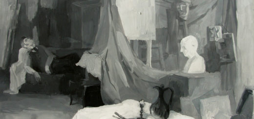 повесть Портрет, Николай Гоголь, иллюстрация, комната Чарткова
