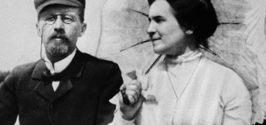 Антон Чехов с женщиной
