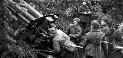 война 1941-1945 годов: солдаты и пушка