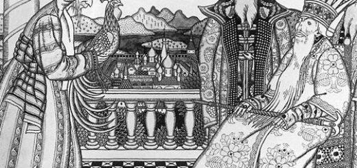 иллюстрация к сказкам Пушкина