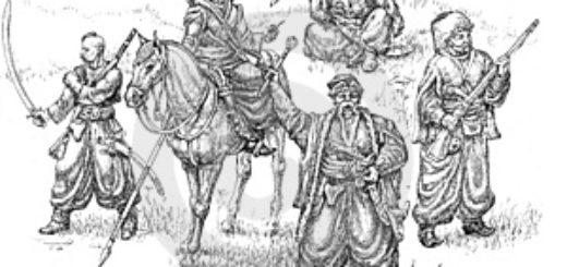 Тарас Бульба, иллюстрация к повести Гоголя, отряд казаков