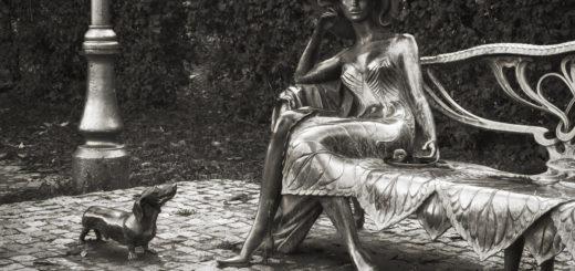 дама с собачкой, памятник
