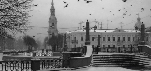 Петербург зимний, шпиль Адмиралтейства