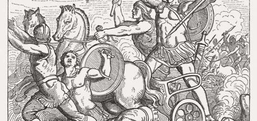 Илиада, Гомер, иллюстрация боя