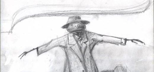 Пугало, иллюстрация к произведению Лескова