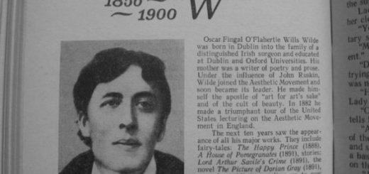 Оскар Уайльд, газетная вырезка, архивная фотография
