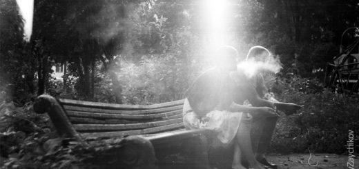 пара, он и она, старинный парк