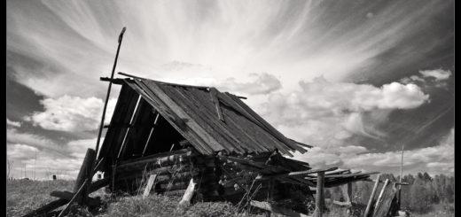изба, разрушенный дом, деревня