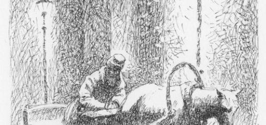 иллюстрация к рассказу Чехова Тоска, Иона и лошадь