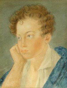 Пушкин в юности, молодой Пушкин