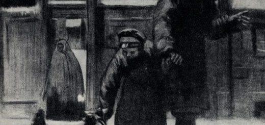 иллюстрация к рассказу Чехова Каштанка
