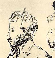 Потрет Пушкина, нарисованный Гоголем