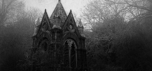 церковь в лесу, готический пейзаж