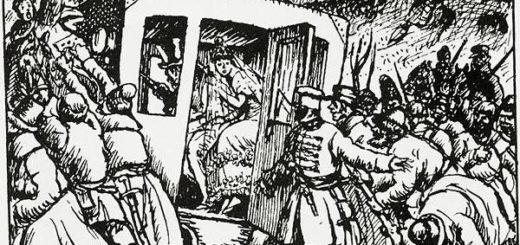 иллюстрация к роману Пушкина Дубровский, освобождение Маши