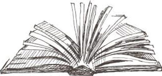 раскрытая книга на столе